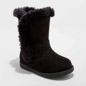 Cat & Jack Girls' Hadlee Microsuede Fleece Boots 3